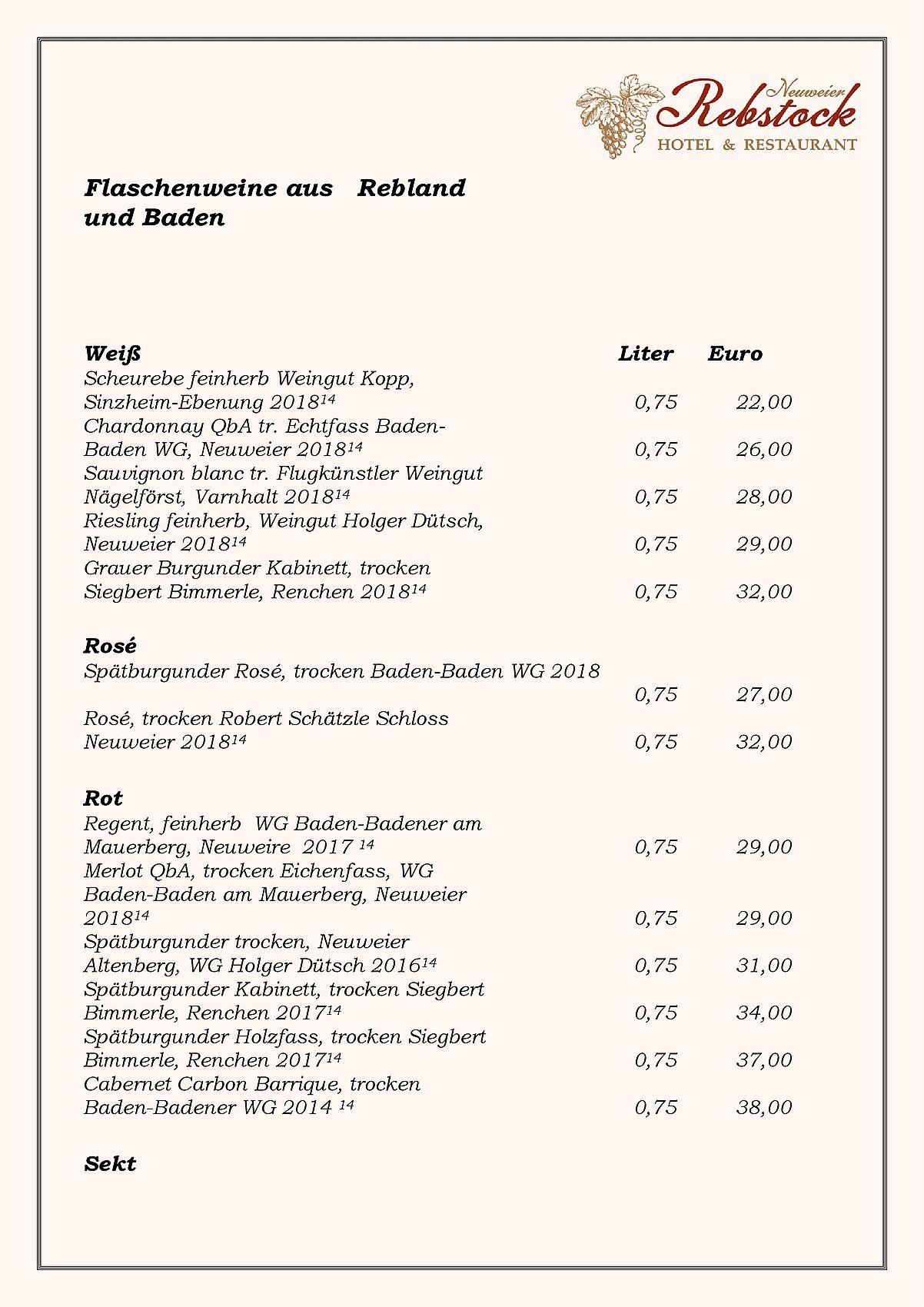 Casino Baden Baden Speisekarte